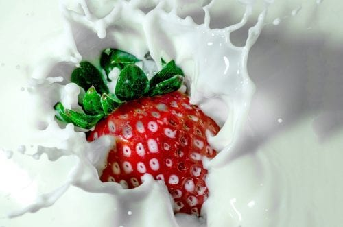 strawberry and milk: fructose intolerance; lactose intolerance